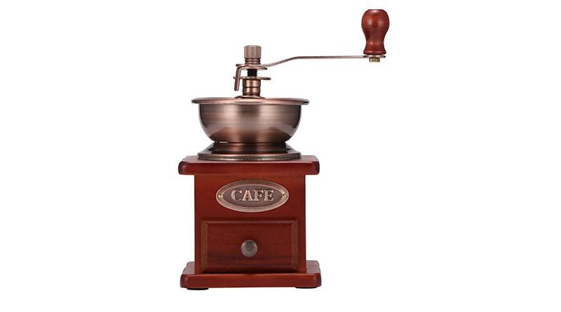 Hand-Vintage-Coffee-Grinder-Wooden